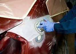 Auto body repair work